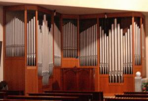 Prospetto dell'organo della chiesa del beato P.G.Frassati a Melzo (MI)
